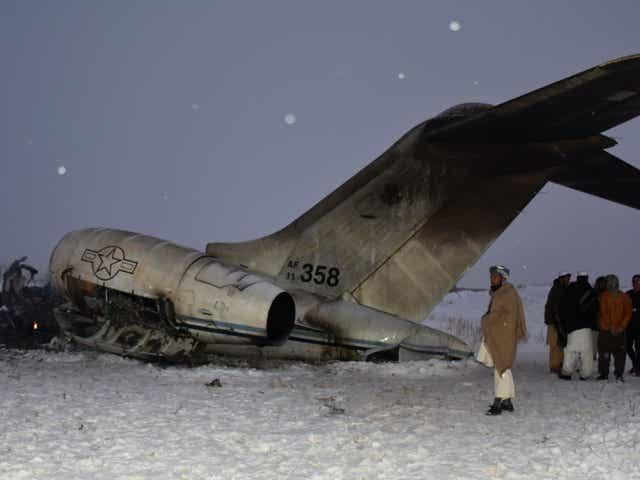 VIDEO: Un avion Bombardier E-11A, s-a prăbușit în Afganistan!