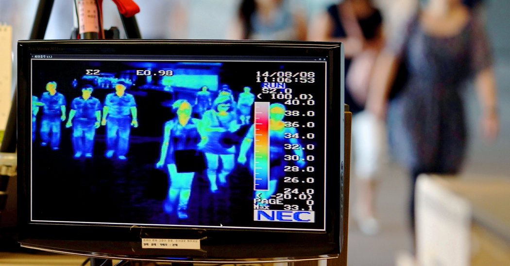 Camere termice în aeroporturi pentru detectarea persoanelor cu febră!