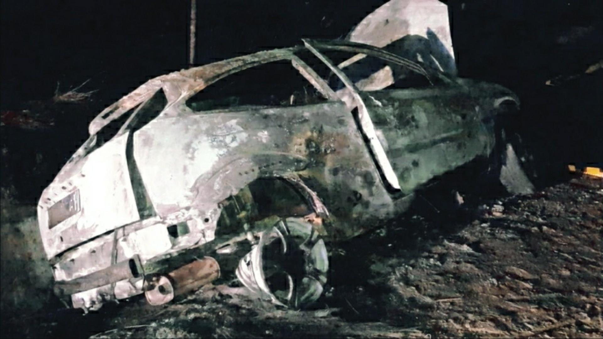 Update: Mașină în flăcări, după un accident în Bacău, un bărbat găsit carbonizat!