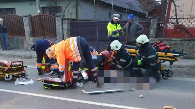 Două femei, accidentate grav pe o trecere de pietoni, pe DN 75 din județul Cluj