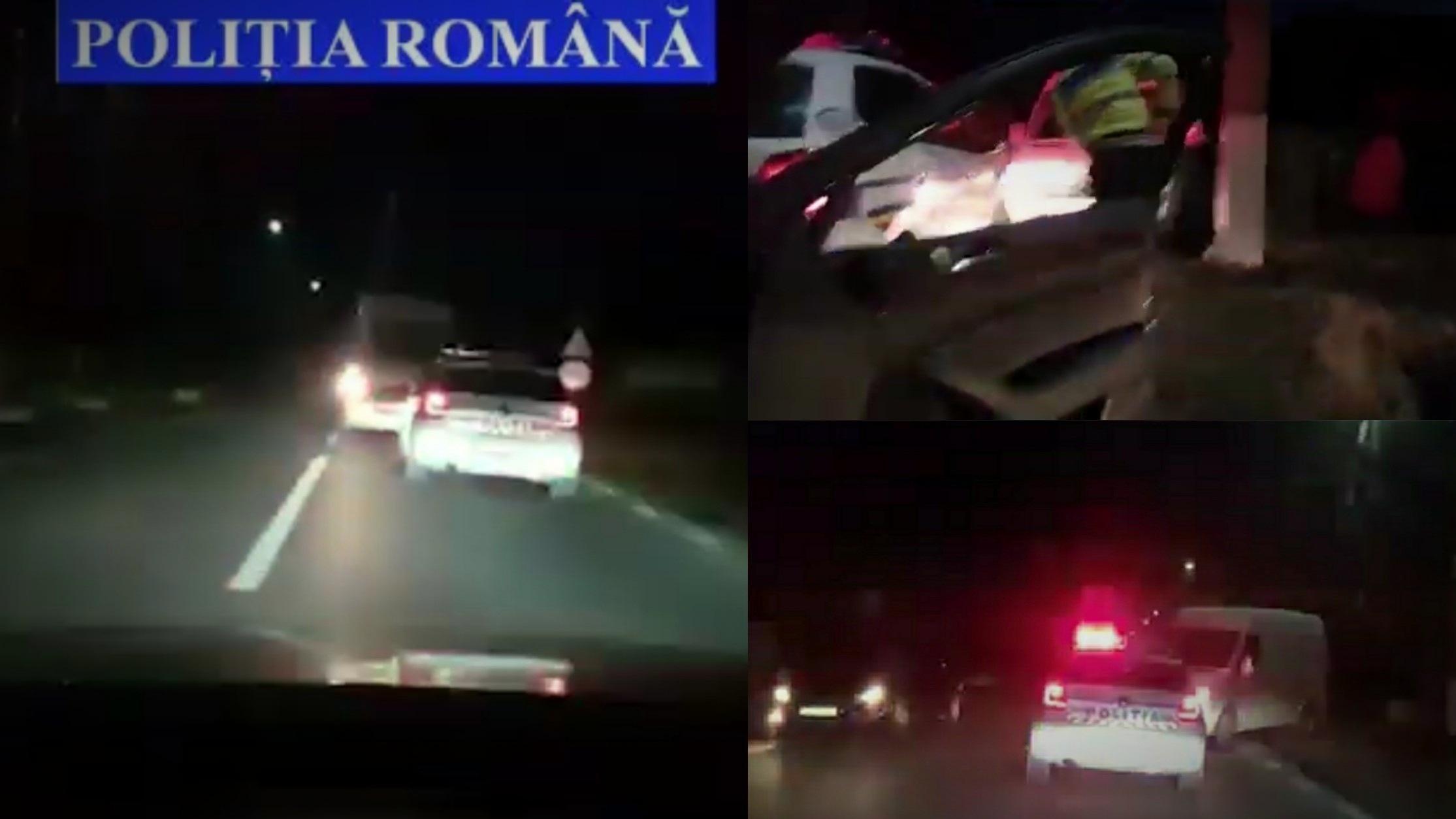 Video | Urmărire ca-n filme în Suceava: Poliţiştii au tras focuri de armă, a condus cu spatele aproape 2 kilometri!
