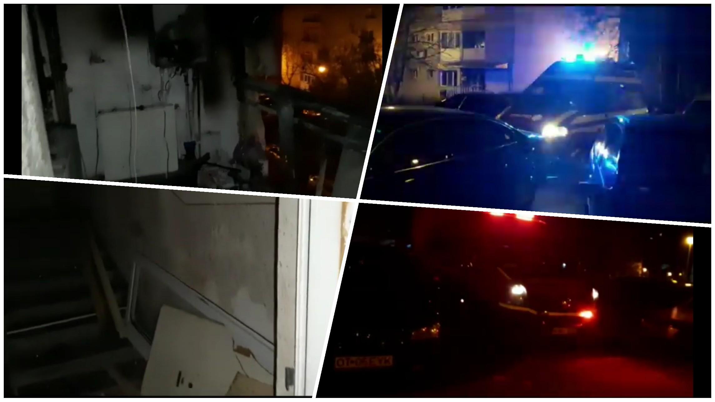 Video | Explozie într-un bloc din Slatina! 3 persoane au fost rănite!
