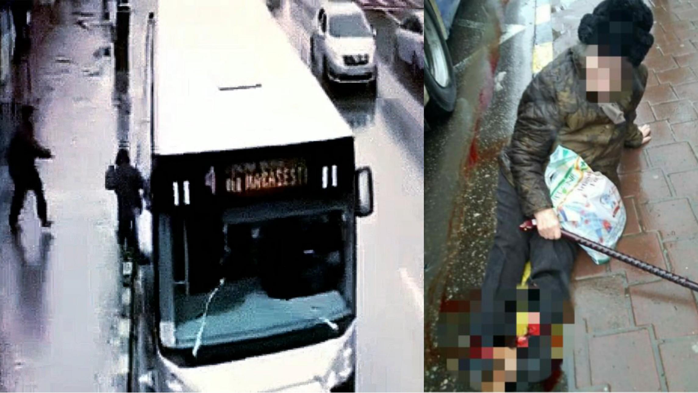 Video | O femeie din Suceava a fost călcată de un autobuz, cauzându-i multiple leziuni  la membrele inferioare