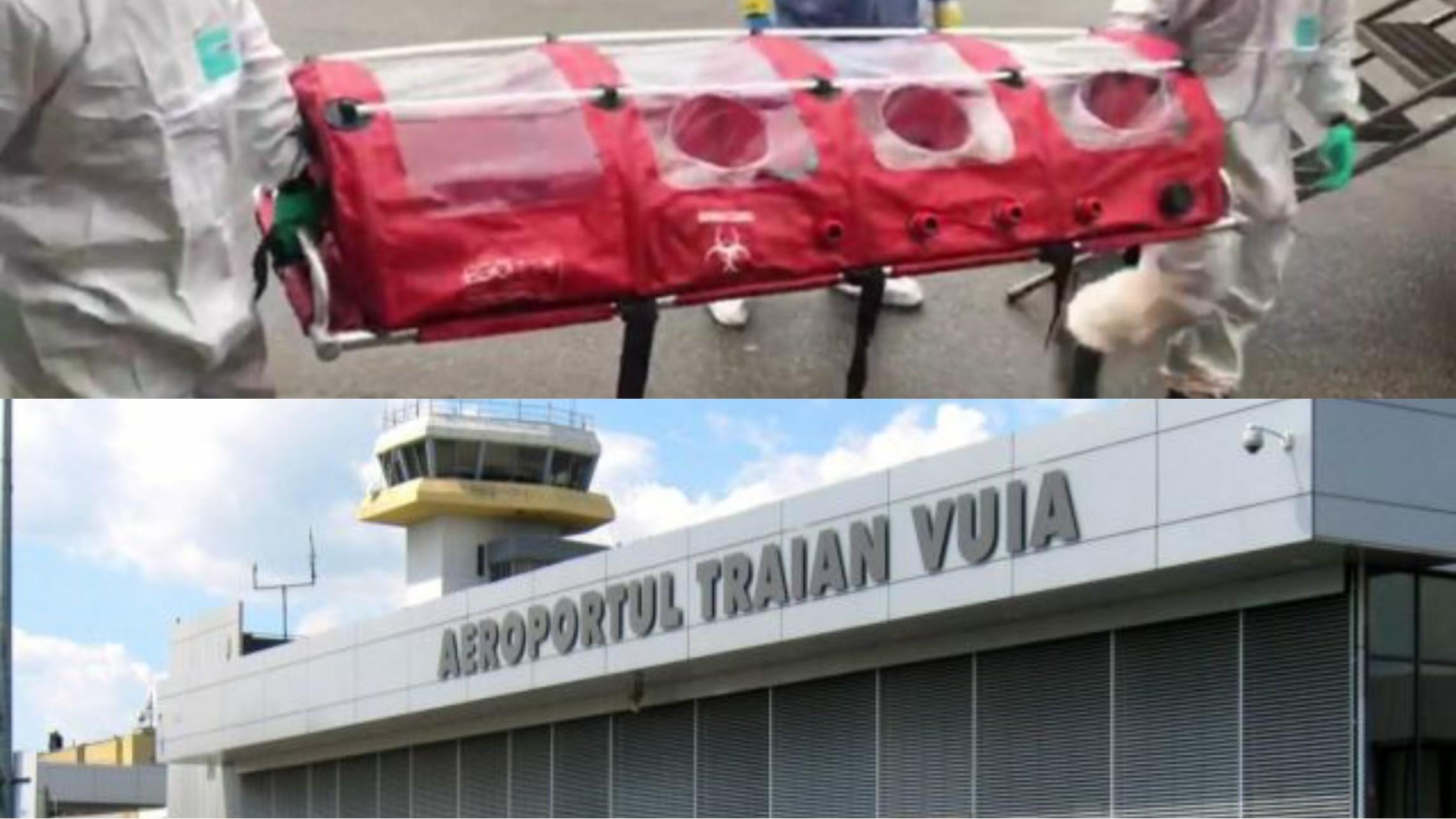 """Coronavirus: Suspiciuni de coronavirus pe Aeroportul """"Traian Vuia"""" Timișoara, o izoletă este pe drum către aeroport"""