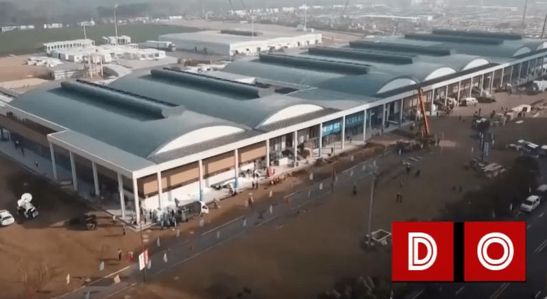 VIDEO: Astăzi 03.02 are loc INAUGURAREA spitalului Huoshenshan din Wuhan CHINA, acesta a fost construit în 10 zile.