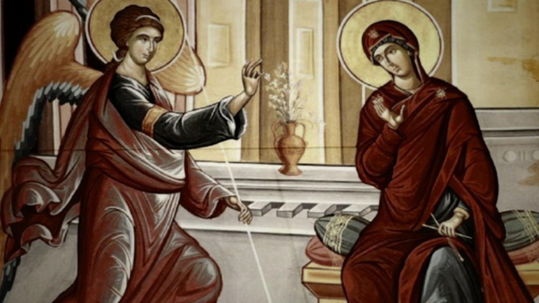 """Mâine este Sarbatoarea Bunei Vestiri ! """"Eu voi fi în biserică. Dumneavoastră rămâneți în casă."""""""