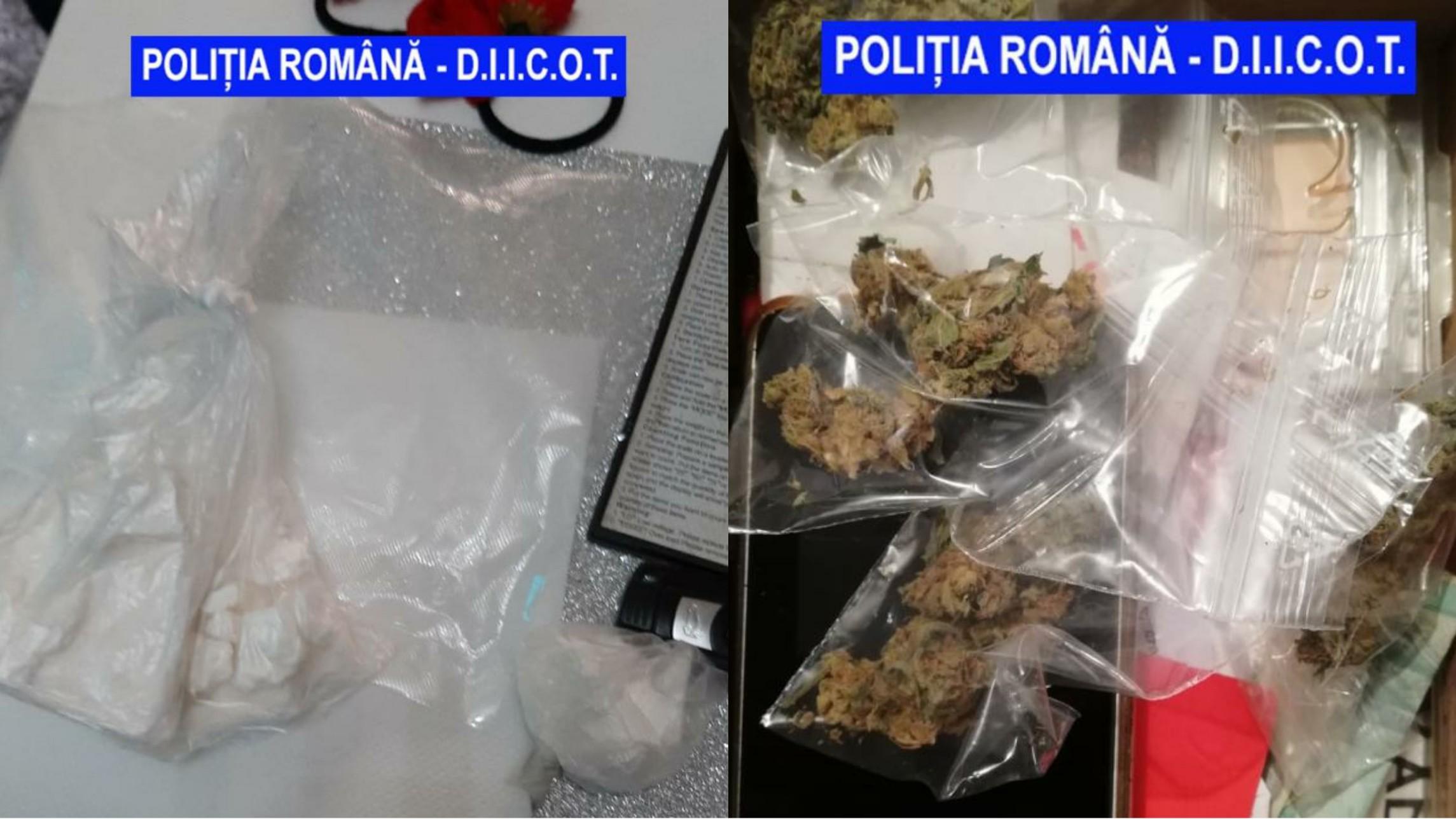 Traficanți de droguri prinși în flagrant la Drobeta-Turnu Severin, aceștia aveau asupra lor cocaină și canabis