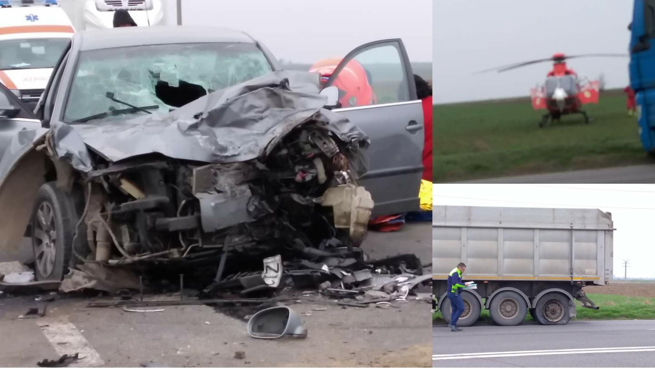 Foto | Accident cu victime în județul Constanța: un elicopter SMURD a intervenit de urgență!