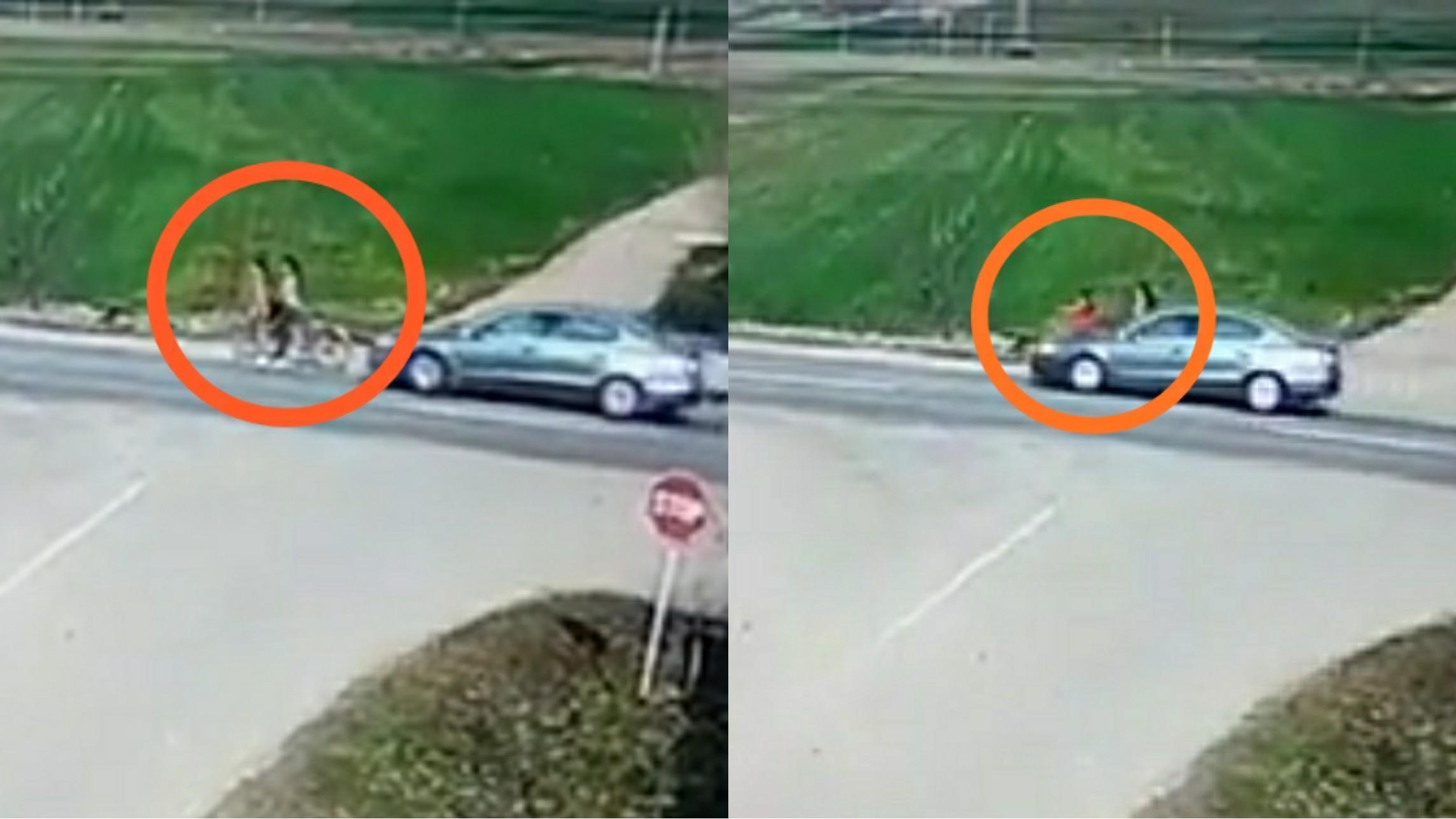Video | O tânără a fost lovită intenţionat cu maşina de un șofer, în județul Olt