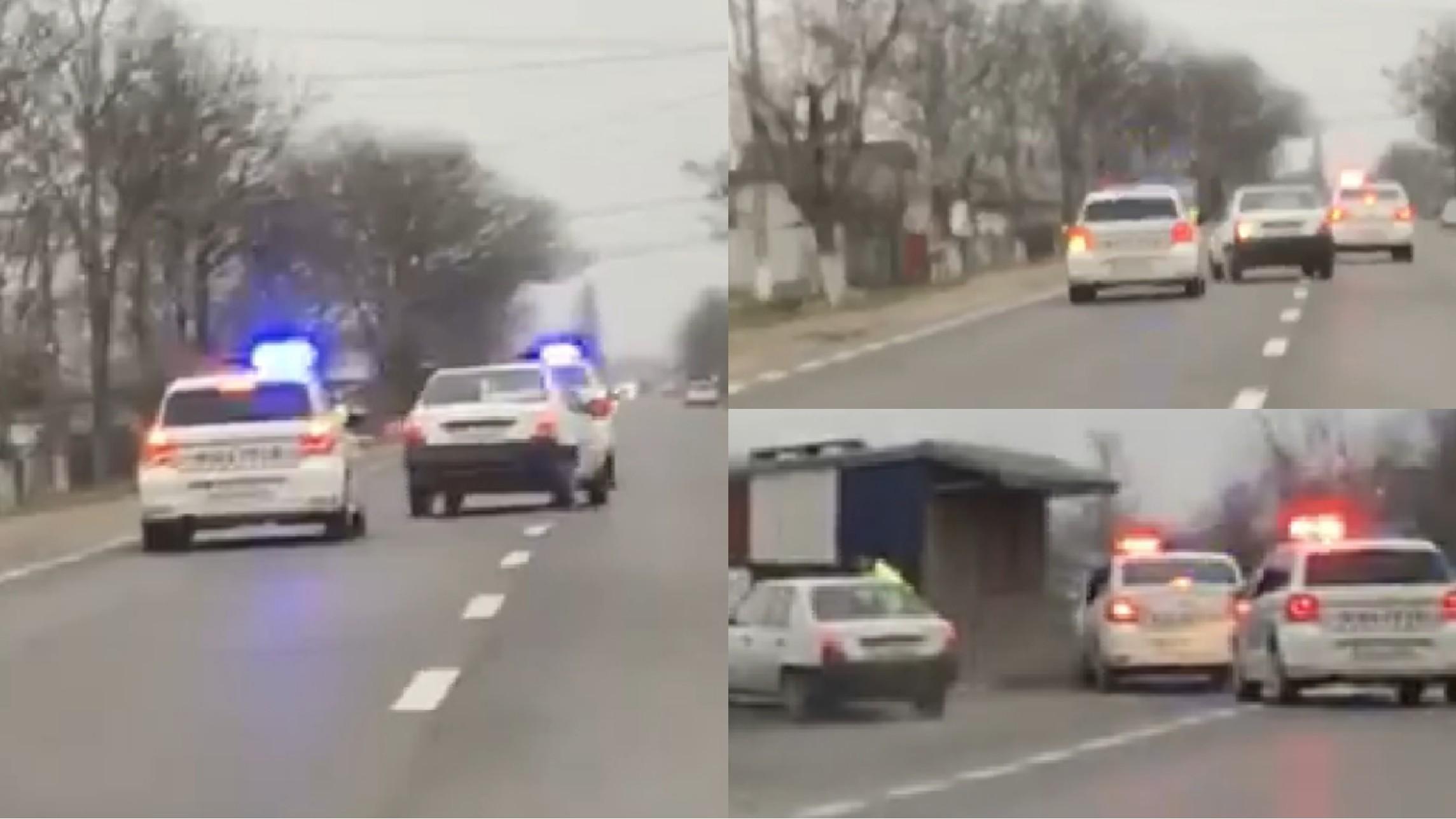 Video | Urmărire ca-n filme: Vasluian fără permis, cu o mașină furată din Bârlad, prins de polițiștii gălățeni