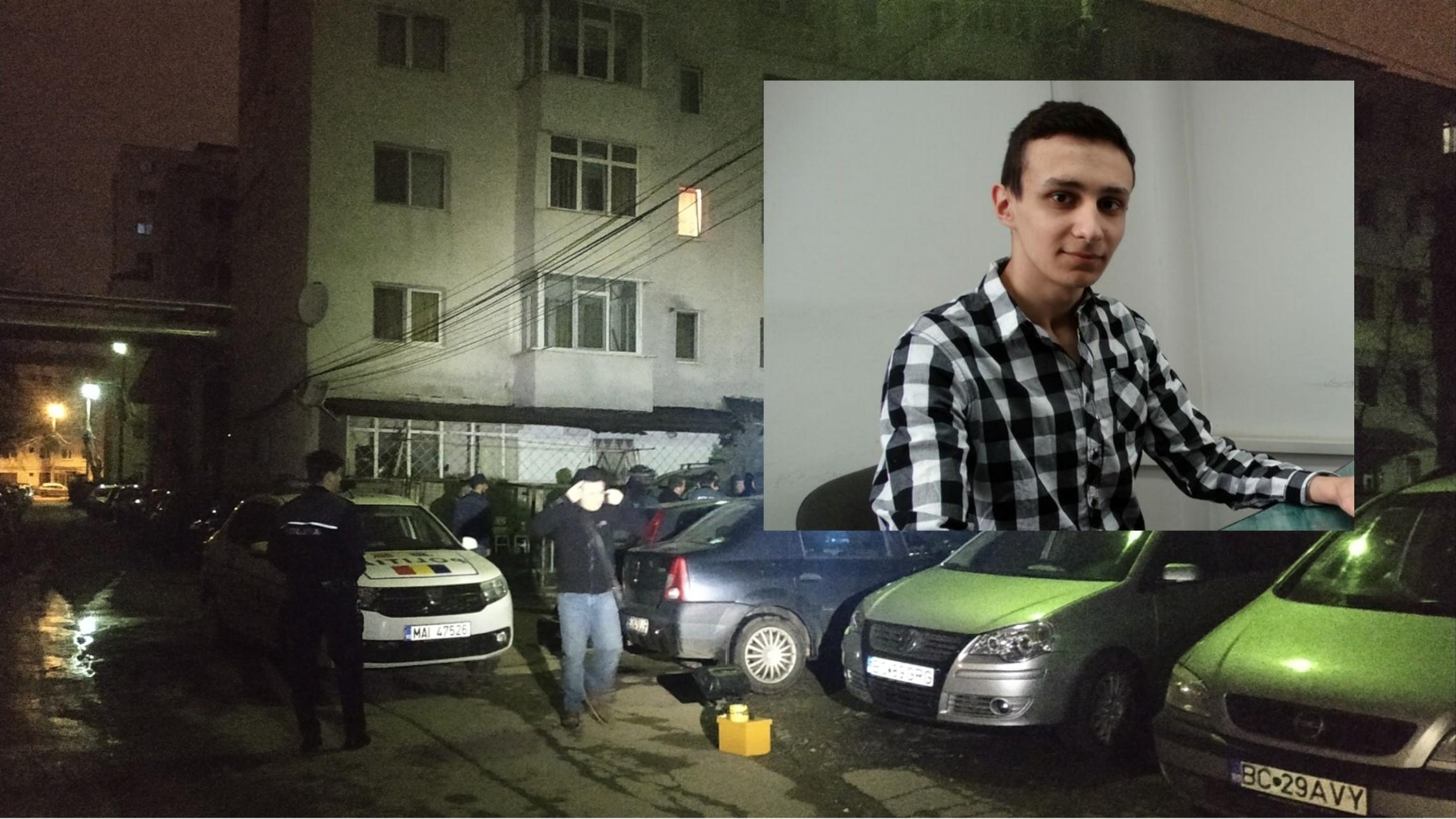 Iulian Cezar Oancea este tânărul împușcat în cap într-o scară de bloc pe strada Alecu Russo din orașul Bacău