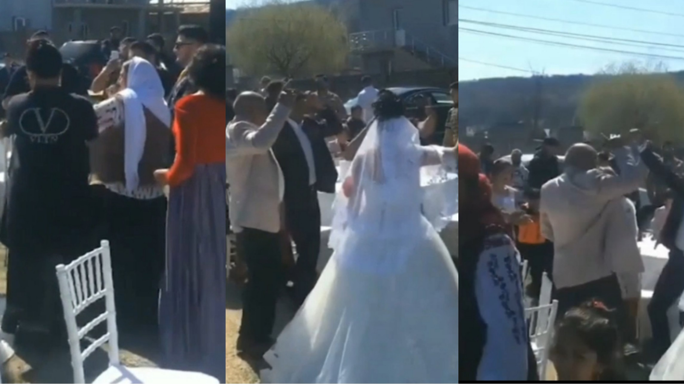 Video | Nuntă mare cu alai în plină pandemie de coronavirus! Petrecerea a fost întreruptă de forţele de ordine