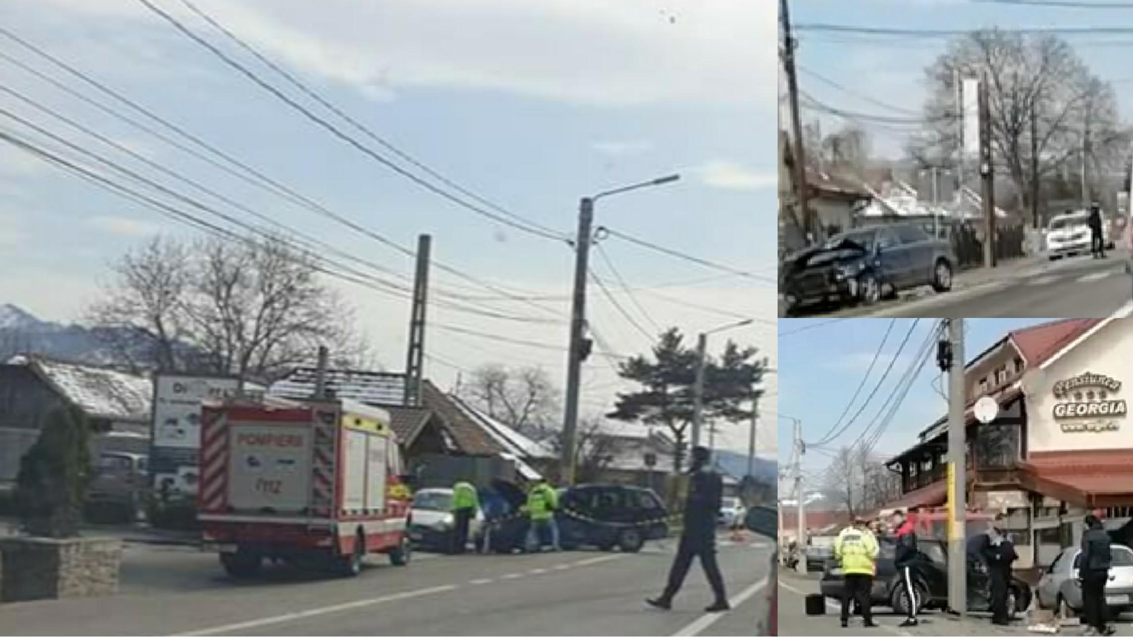 Accident de circulație la Comănești, un bărbat a fost rănit și transportat la spital