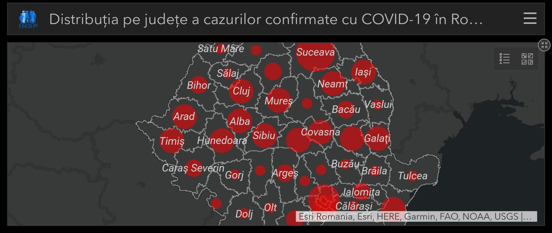 Hartă LIVE coronavirus ROMÂNIA! 7.216 CAZURI confirmate! Statisticile infecțiilor în România!