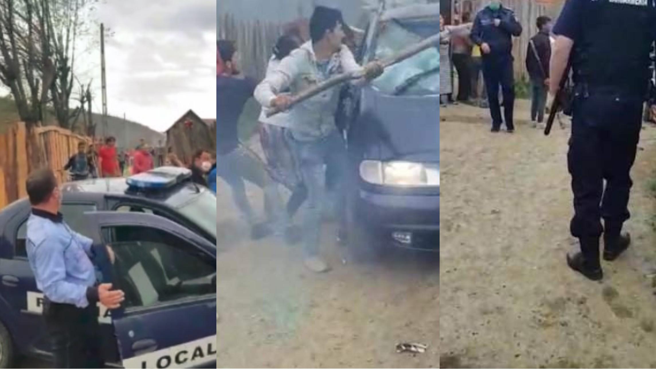 Video | Încăierare cu bâte și lopeți, în prima zi de Paști,  între mai mulți romi din Săcele, Brașov