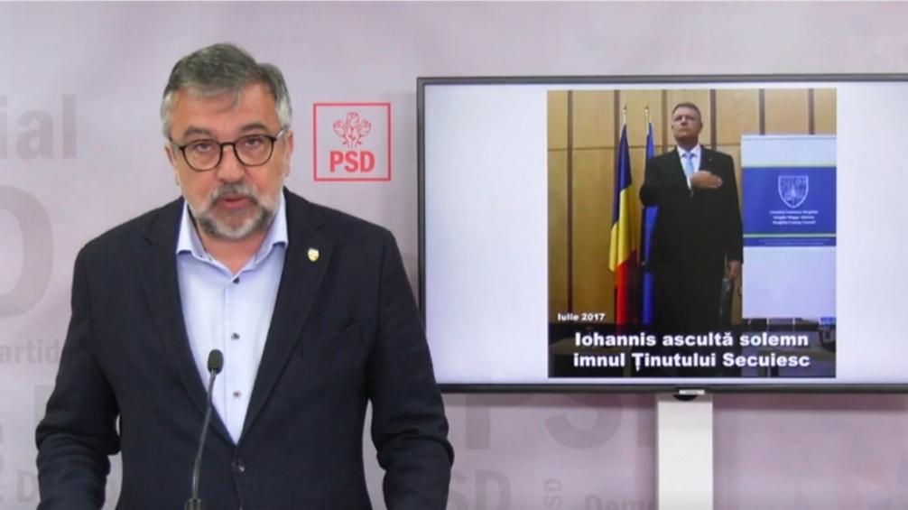 Manipulare marca PSD: Au falsificat o imagine cu Klaus Iohannis mințind într-o conferinta de presă