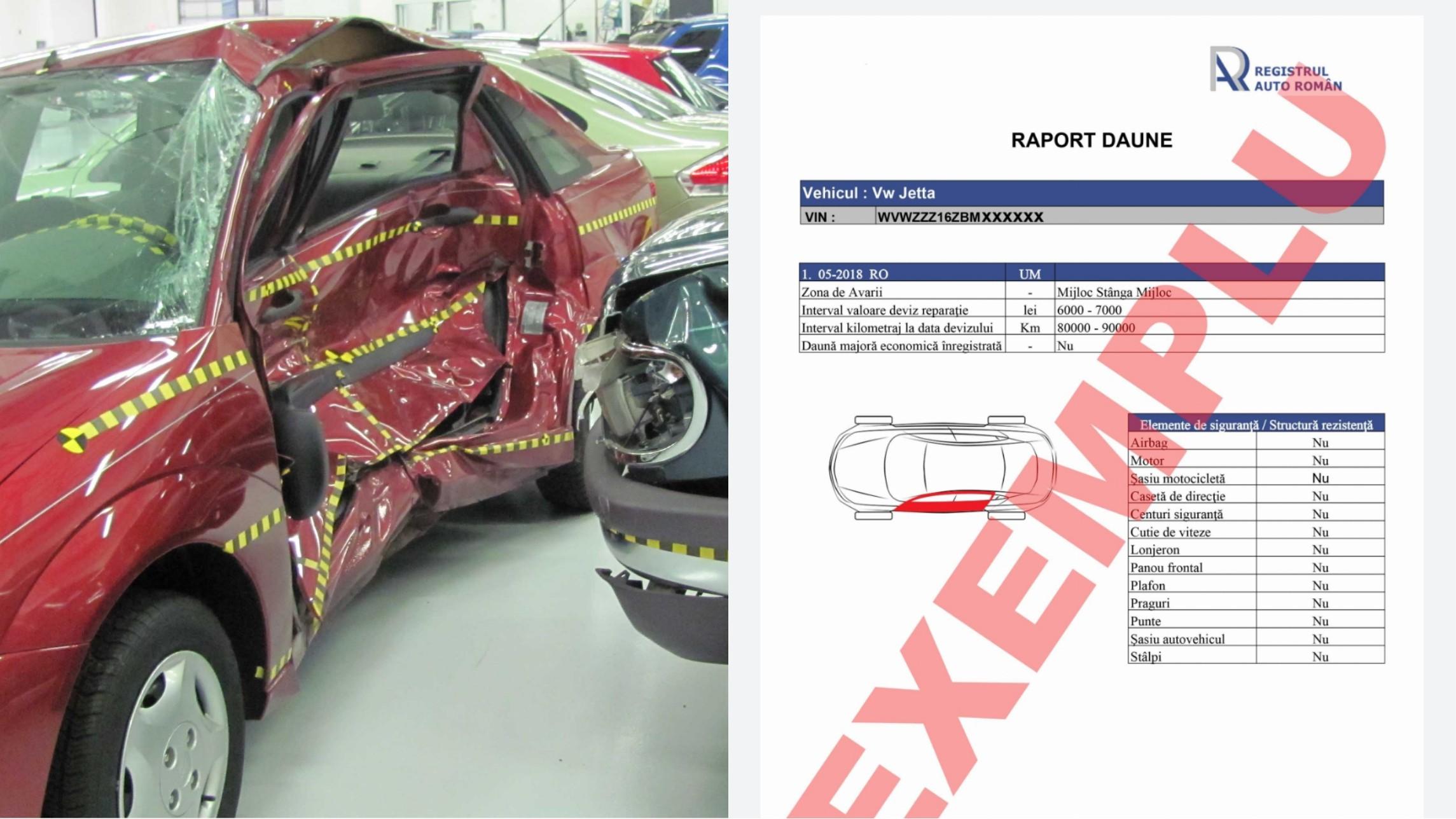 RAR oferă date despre daunele vehiculelor înmatriculate în România