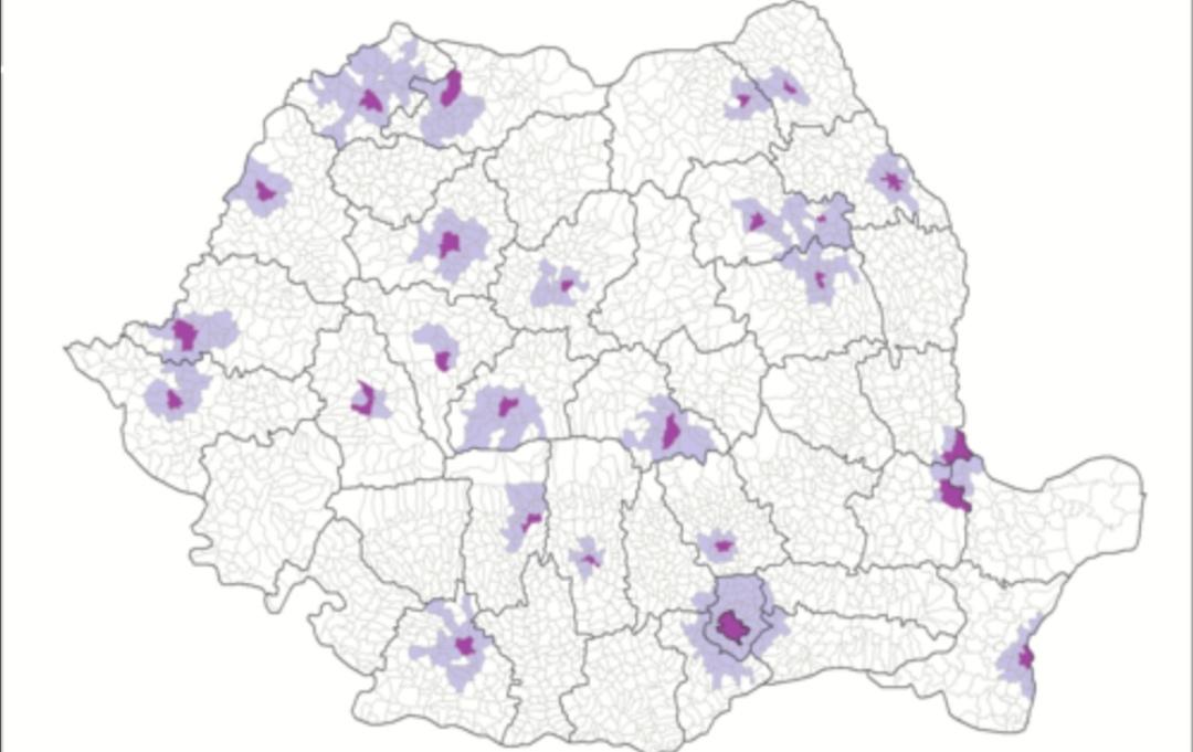 Care sunt cele 22 de zone metropolitane unde declaraţia pe propria răspundere nu este necesară pentru deplasare