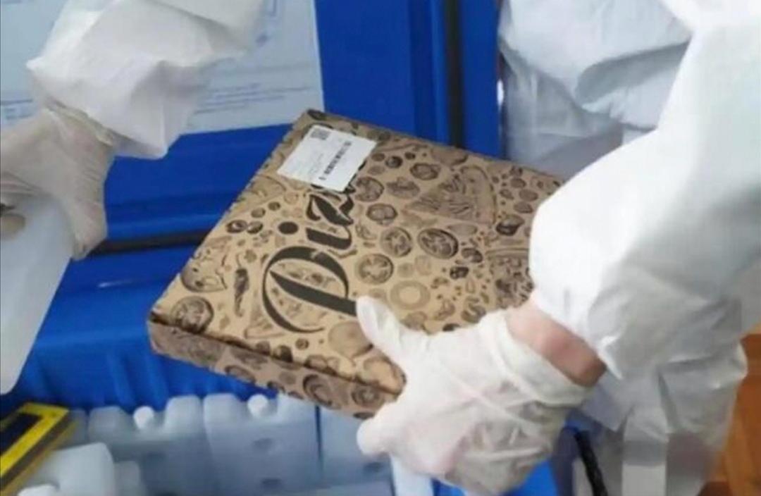 Vaccin livrat în cutii de pizza într-un oraș al României